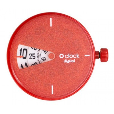Digital red o clock