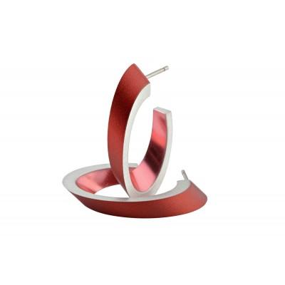 clic ovale oorbellen rood
