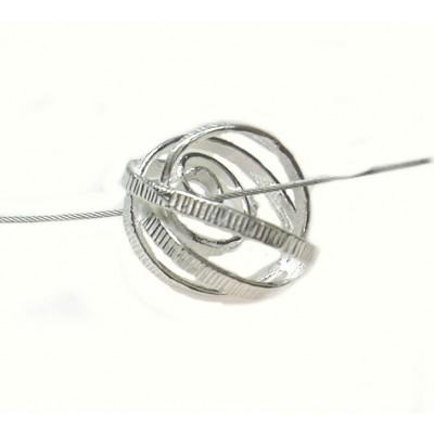 Jeh zilveren hanger structuur gedraaid