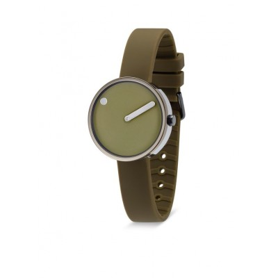 Picto horloge  army green 40 mm.