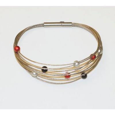 zwart rood zilver armband stepbystep