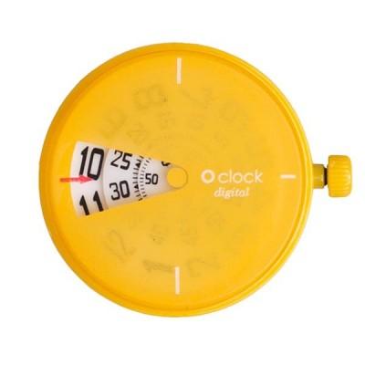 Digital r  o clock yellow