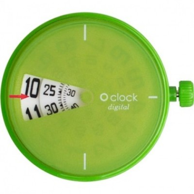 Digital Apple Green o clock