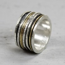 Jeh ring goldfilled zilver
