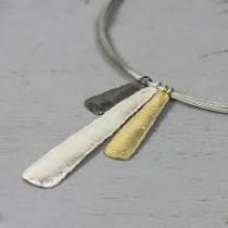Zilveren hanger drie kleuren