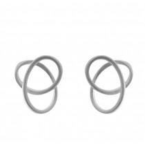 Zilveren tezer design oorsteker