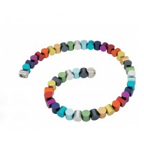 regenboog collier cilindervormen Apero